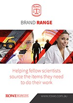 Rowe Scientific Brand Sheet Catalogue cover