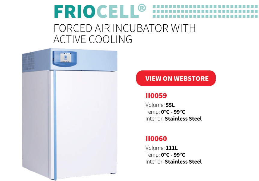 FRIOCELL Forced Air Incubator with Active Cooling