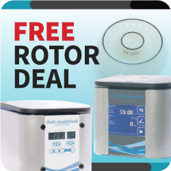 Centrifuge special offer - Free rotor deal